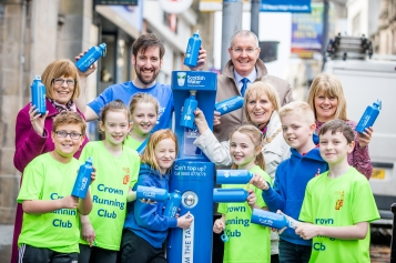 Scottish Water launch the new, Top Up from the Tap on Inverness High Street.